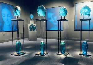 May 9th all mothers have the opportunity to tour the museum's prestigious international collection of glass art, including the new Blue Madonna exhibit, for free.