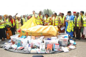 Charity founder Aloysius Ihezie reflects on record-breaking donation of textbooks to schools in Anambra State Nigeria.