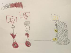 Fans for Good Sweetest Creative Contest Inspired 5 Year Old Boy This His Drawing #soccerstar #passionatefans #fanforgood www.FanforGood.com