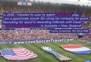 I am a passionate soccer fan, and I love helping other fans fund their 2023 World Cup Trip #collaboration #fundgrouptrip #lovesoccertravel www.LoveSoccerTravel.com