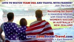 Want to save money of your next friends' World Cup Trip participate in Recruiting for Good referrals program #lovesoccertravel #collaboration #enjosavings www.LoveSoccerTravel.com