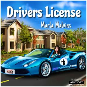 "Cover of Olivia Rodrigo's ""Drivers License"" by Marla Malvins"