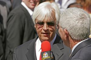 Medina Spirit's trainer Bob Baffert is interviewed at Santa Anita Park April 4, 2009 in Arcadia, CA.