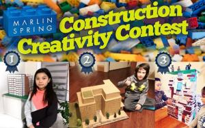 Winners of Marlin Spring's Construction Creativity Contest