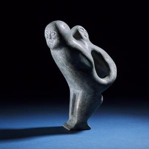 Stone sculpture by John Tiktak, MOTHER AND CHILD, ca.1980