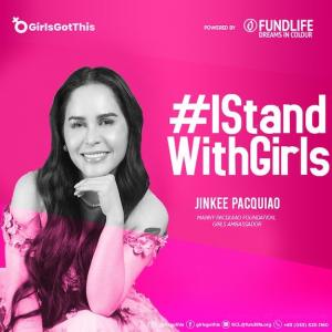 Jinkee Pacquiao pink I Stand With Girls GirlsGotThis photo