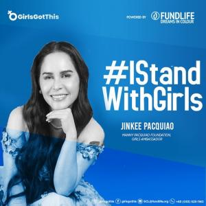Wife of Manny Pacquiao, Jinkee Pacquiao, is the Girls Ambassador at The Manny Pacquiao Foundation