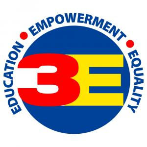 3E Organization — Promoting Education, Empowerment & Equality (logo)