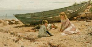 Oil on canvas by Charles Morgan McIlhenney (American, 1858-1904) ($100,000)