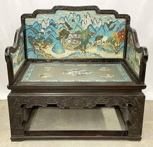 Fine Chinese rosewood hall bench. Auction estimate: $6,000-$10,000