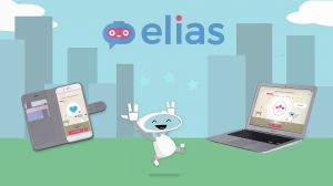 Elias Robot is releasing a mobile app for language learning that enables students to practice speaking skills with a friendly robot.