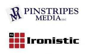 Pinstripes Media logo and Ironistic logo