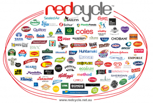 Image shows companies partnered with REDcycle