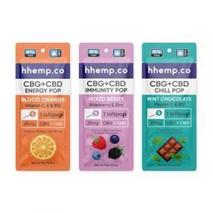 Hhemp.co CBD + CBG Lollipops