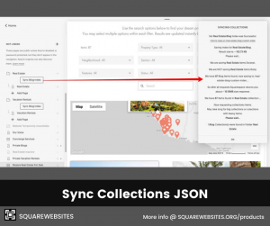 Sync Collections JSON plugin enables multiple collections in summary block, faster lazy summaries, universal filter and advanced map loading.