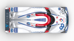 Top view of the MissionH24 race car