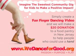 The Sweetest Kid Community Gig use your creative dancing talent to help support local cause #talentforgood #gigforkids #wedanceforgood www.WeDanceforGood.org