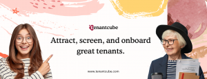 The image shows the banner for Tenantcube rental managment platform.