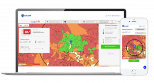 A screenshot of Taradel's Mapfire marketing app.