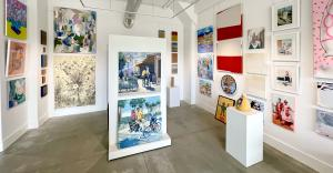 A wide variety of 2D and 3D work is on display in the new gallery space