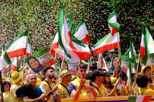June 6, 2021 - The Iranian supporters (MEK-NCRI) in a Free Iran rally.