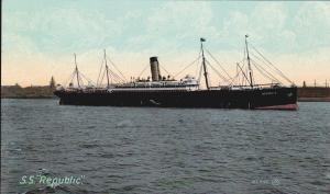 RMS Republic Postcard Circa 1907