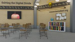 Classroom-style backgrounds make isolated students feel like they are back in school.