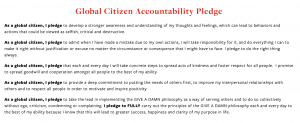 Global Citizen Accountability Pledge