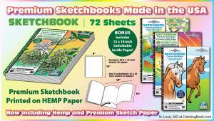 Hemp and Regular Paper Sketch Pads