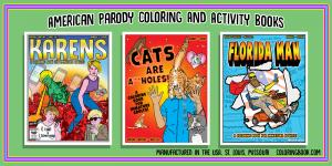 Parody Coloring Books for youth and adults