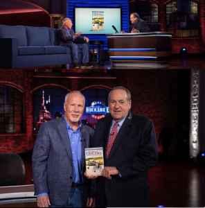 Author, Ed Hudson appears with Gov. Mike Huckabee on his TBN show.