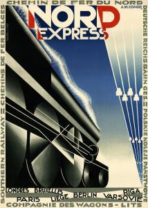 A. M. Cassandre, Nord Express (1927). Est. $20,000-$25,000.