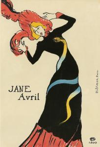 Henri de Toulouse-Lautrec, Jane Avril (1899). Est. $70,000-$90,000.