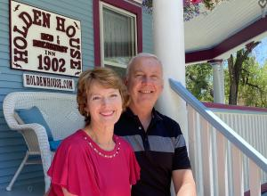 Owner-Innkeepers Sallie and Welling Clark have been operating the Holden House continuously for 35 years