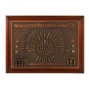 Winchester 1884 cartridge board, certainly the rarest of all of the cartridge boards issued by Winchester (CA$100,300).