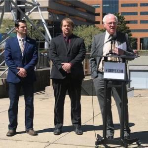 Steve Felano (2A Activist), Duane J. Whitmer (Chairman of Erie County Libertarian Party), and Jim Ostrowski (Attorney)