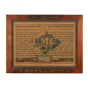 Union Metallic Cartridge Company display board, 1880s, lithographed cardboard with Winchester ammunition. (CA$53,100).