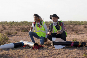 UH Mānoa College of Engineering students helped to recover the rocket.