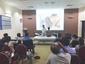 Prof. Sharma teaching at the University of Peradeniya, Sri Lanka