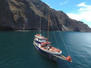 Galapagos ship Samba expedition volcano sea