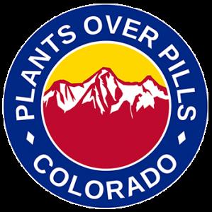 The Plants Over Pills Colorado (P.O.P. Colorado) company logo.