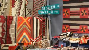 Navajo textiles are abundant and popular at the show.