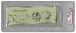 """Check signed by then-junior Senator from Illinois Barack Obama, drawn from the """"Friends of Barack Obama"""" bank account in 1997 (est. $8,000-$10,000)."""