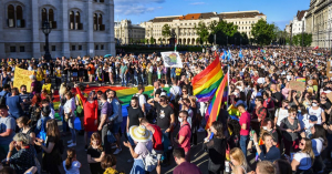 The new law has provoked considerable public outrage, with more than 10,000 people demonstrating against it on Kossuth Square