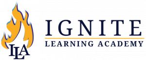 Ignite Learning Academy logo with flame