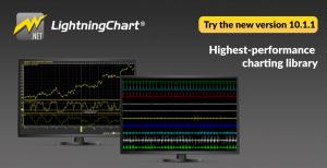 The newest version 10.1.1 of LightningChart for dotnet