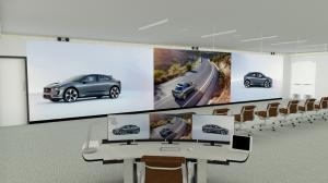 Massive Direct view LED video wall for Jaguar Land Rover design