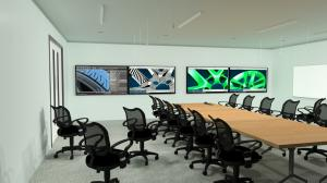 Graphic rendering of the Jaguar Land Rover design collaboration room