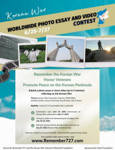 Worldwide Korean War Photo and Video Contest to Honor Veterans and Promote Peace