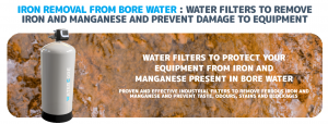 Iron removal from bore water